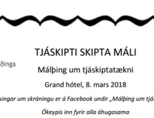 Málþing um tjáskiptatækni 8.mars