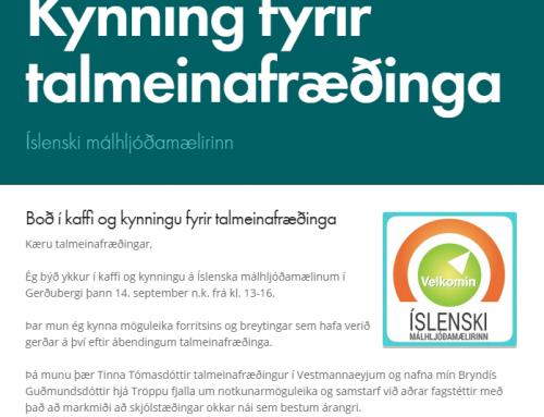 Íslenski málhljóðamælirinn- kynning fyrir talmeinafræðinga