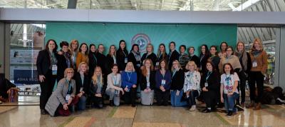 Hópmynd: Íslenskir talmeinafræðingar á ASHA 2018, Boston, USA.