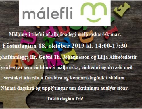 Málefli heldur málþing á alþjóðadegi málþroskaröskunar